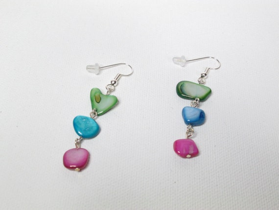 Multicolored  Mother of Pearl Earrings