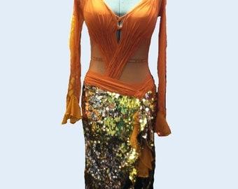 Dance Dress Latin Gold