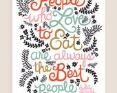 8x10-in Julia Child Quote Illustration Print.