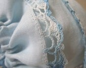 SALE! Vintage Blue Handkerchief Bonnet