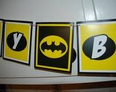 BATMAN Birthday Banner - yellow and black