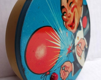 Let's Celebrate - VINTAGE - 1950's Tin Ratchet Noise Maker - Party Favor - Birthday / New Years / Anniversary / Over the Hill