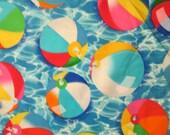 Beach Ball Water Sports Cotton Fabric Fat Quarter or Custom Listing