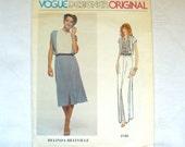 Vintage Vogue Pattern 1970s Vogue Designer Original Casual Evening Misses Dress Pattern Belinda Bellville 70s