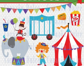 INSTANT DOWNLOAD Circus 1 Clip art -Personal and Commercial Use-