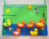 Ducks in a row Felt Board with 6 ducks