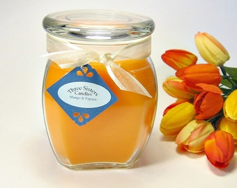18 oz. Apothecary Jar Candle Mango and Papaya scent