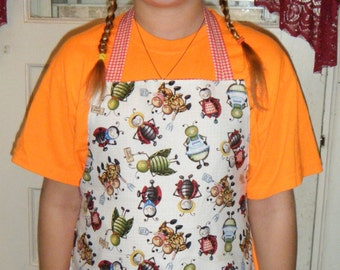Childs Reversible Ant print  Minnesota made Apron