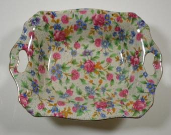 Rectangular Bowl // Nut Dish // Royal Winton // Old Cottage Chintz