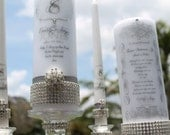 Pure Diamond Unity and Memorial Candle set.........Holders included