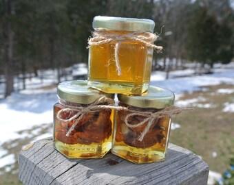 Unique Edible Gift, Honey Jar & Nuts Gift Set, Graduation Gift Set,  3 Jars  Filled FRESH, Safety Sealed