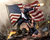 "Bill Clinton The  Lady Killer HQ 24x36"" EPIC SIZED"