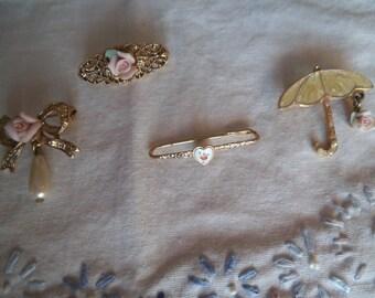 1928 Rose Pins