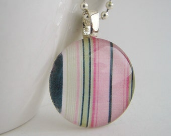 Round Stripes Pendant with Free Necklace