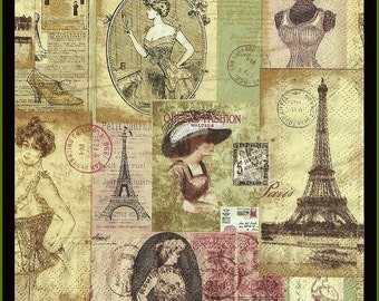 Paris Fashion Paper Napkins, huge selection of napkins in my etsy shop