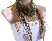 Necklace scarves,Traditional Turkish-style, Headband, scarf, leopard,  fashion, 2013, Special Fashion, spring celebration