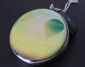 Photo Locket  necklace silver necklace locket  image locket  picture locket gift jewelry, Hot Air Balloon at sunrise