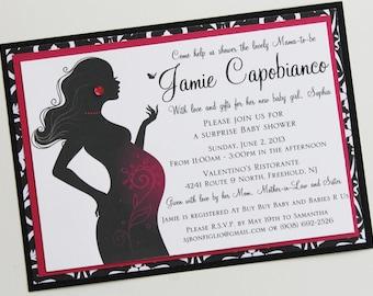 Diva Momma Baby Shower Invitation