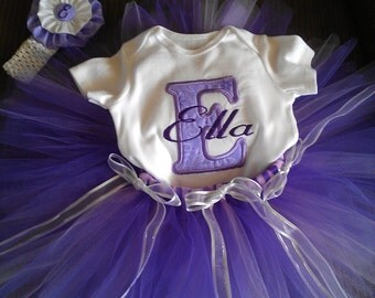 Personalized tutu outfit for birthday