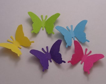 100 Colorful Butterfly Die Cuts Paper Punches Scrapbooking Embellishments Confetti