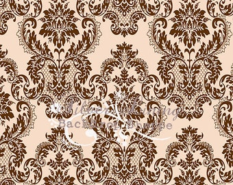5'x5' Photography Backdrop Serendipity Vintage Damask - great for photobooths