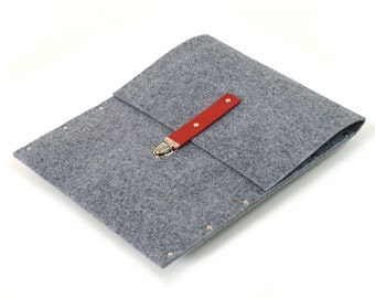 MacBook 13  RETINA Case, Cover, Sleeve, Bag, Briefcase grey synthetic felt