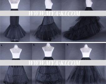 Black Bridal Prom petticoat custom order options