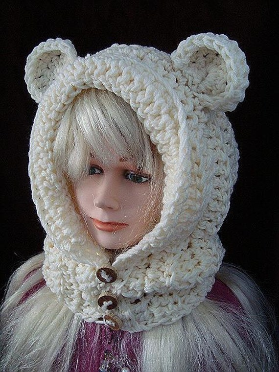 Easy Crochet Hat Pattern Goldilocks Hood with ears or