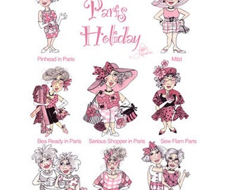 Paris Holiday Embroidery Design Collection - CD