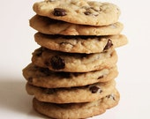 Food Photography - Chocolate Chip Cookies - Stack of Cookies - 8x10 Fine Art Photo