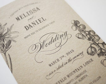 Botanic Garden Wedding Invitation Printable