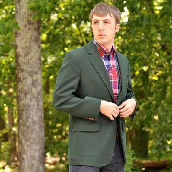 Vintage Men's Green Blazer 42R Sport Coat Jos. A Banks