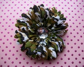 Camo Flower Hair Clip