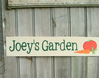 Personalized Garden Sign: Custom Garden Sign, Choose Colors and Design
