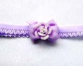 Purple Rose Headband