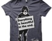 Graphic Tshirt -  Typography Mens T Shirt Small
