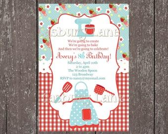 Cooking Party Invite-Chef Birthday-Casbury Lane
