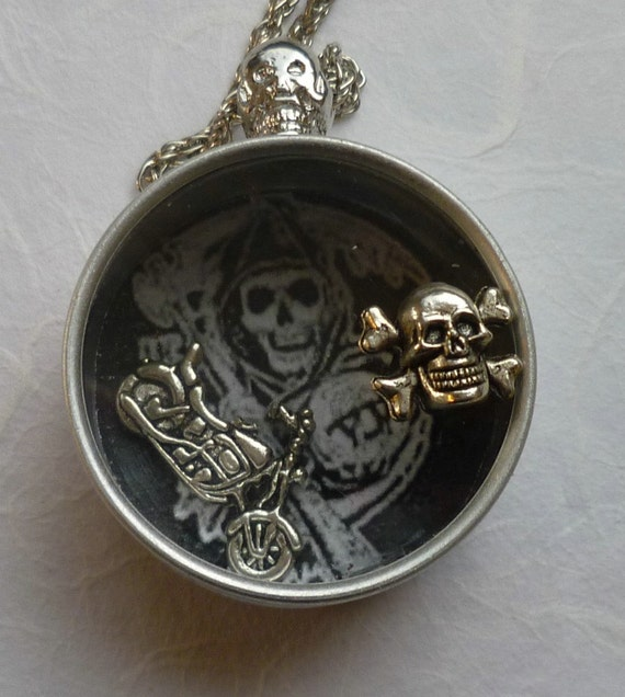 watchmakers tin shaker necklace sons of anarchy inspired