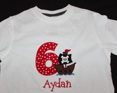Personalized Pirate Birthday Onesie or Tshirt