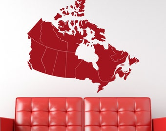 """Wall Decal Canada Map 36""""W  Wall Decal"""