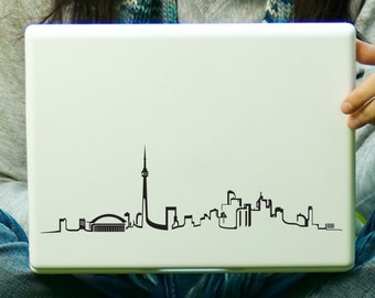 Toronto Skyline Sticker Decal Laptop Decal iPad