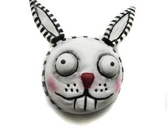 Halloween Magnet - Spooky bunnyt Magnet - Halloween Decor - Goth bunny - Made to Order