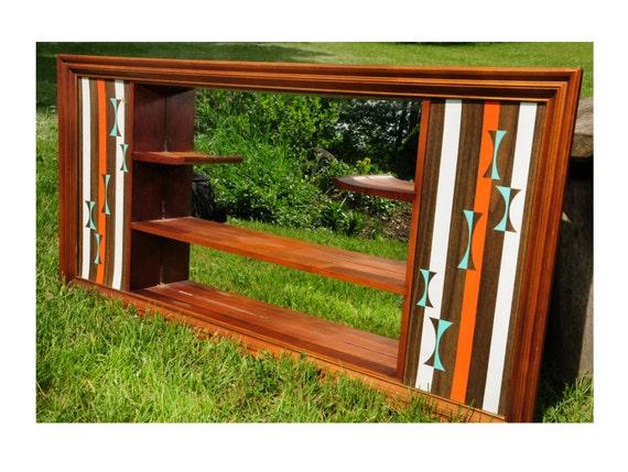 mid century modern wall shelf atomic retro turner wall. Black Bedroom Furniture Sets. Home Design Ideas