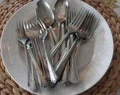 8 Pieces Vintage Forks & Spoons Silver Plate