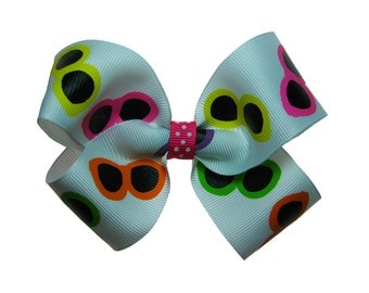 Large Sunglasses Summer Vacation Hair Bow