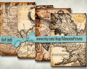 World  maps  //  Printable Digital Grunge Papers , 4x6 inches  scrapbook , commercial use,  Digital Collage Sheets   Download  k7