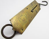 Vintage Chatillons Hanging Brass Spring Scale