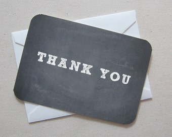 Thank you chalkboard cards