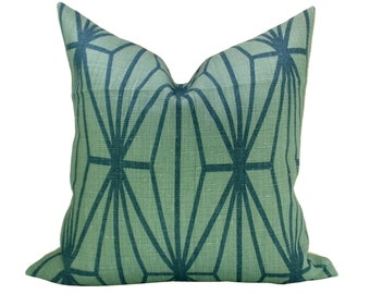 Katana pillow cover in Jade/Teal
