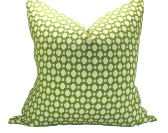 Betwixt pillow cover in Grass/Ivory - ON BOTH SIDES